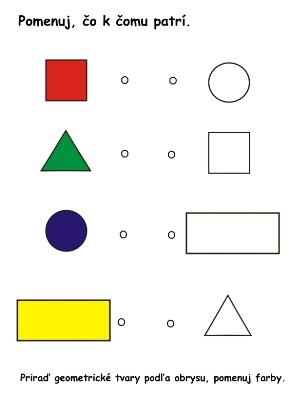 farby a tvary _pracovný list_čo k čomu patrí podľa obrysu
